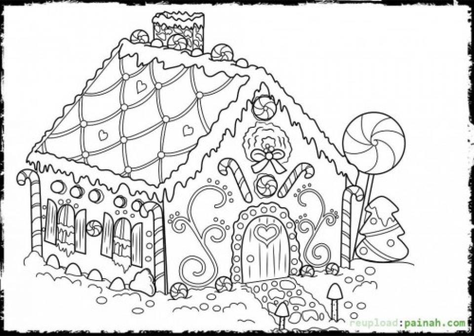 Get This Online Printable Gingerbread House Coloring Pages 4z5CB !