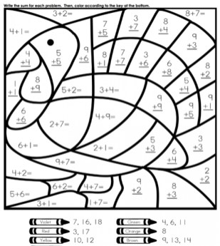 Online Printable Math Coloring Pages rczoz