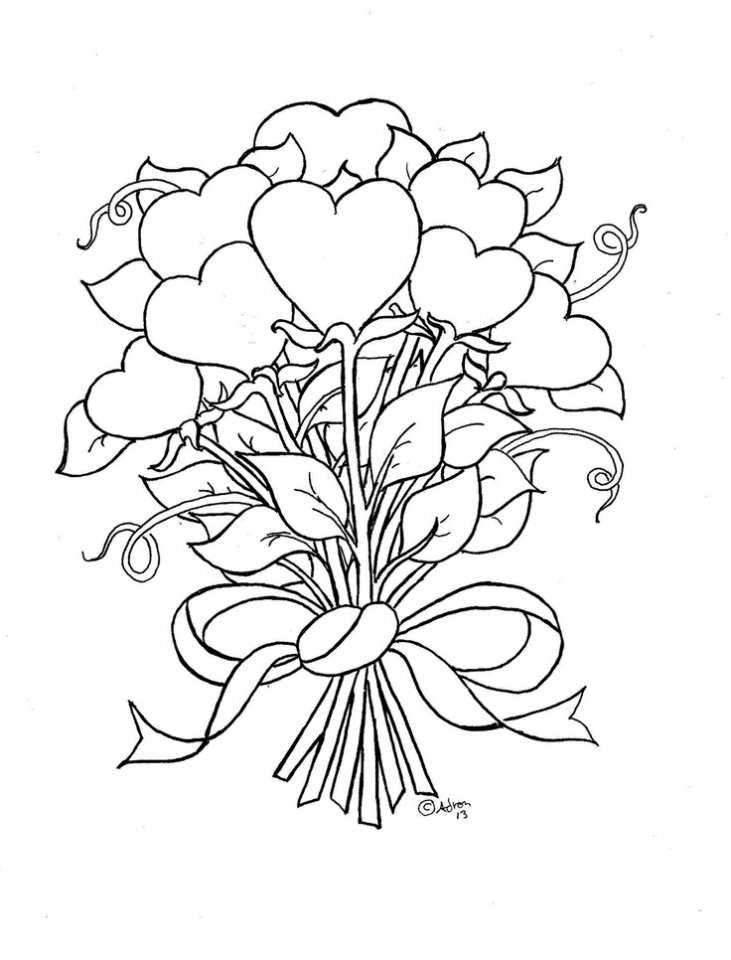 Online Roses Coloring Pages for Adults   60096