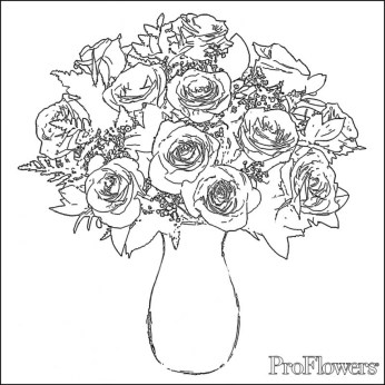 Online Roses Coloring Pages for Adults 78742