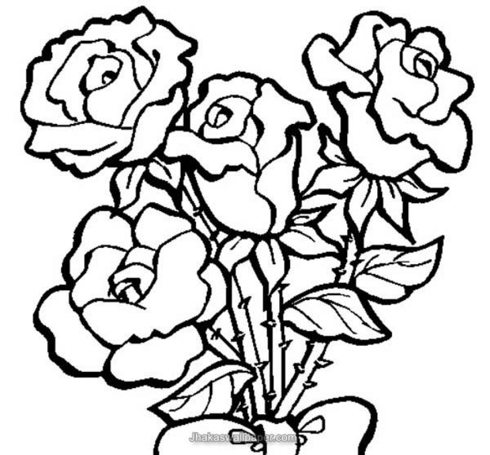 Online Roses Coloring Pages for Adults   88275
