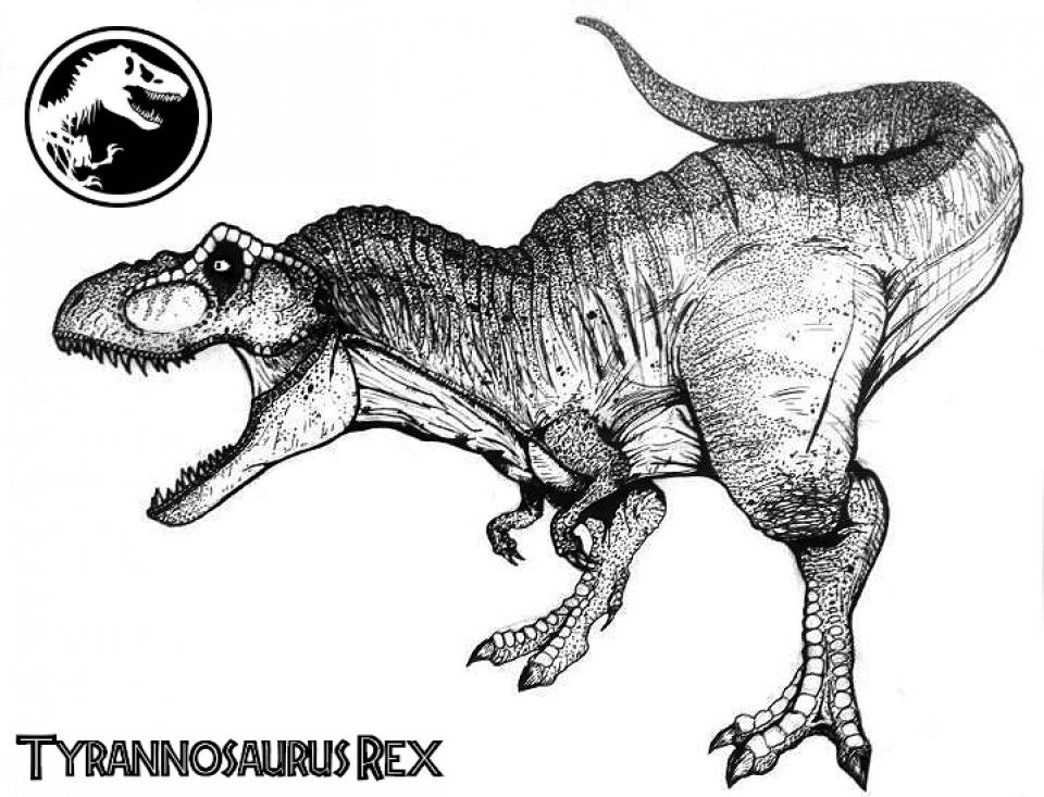 Online T Rex Coloring Pages   61800