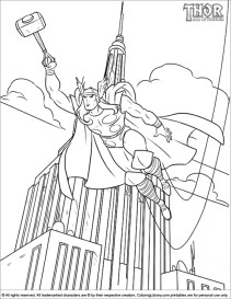 Online Thor Coloring Pages 17433