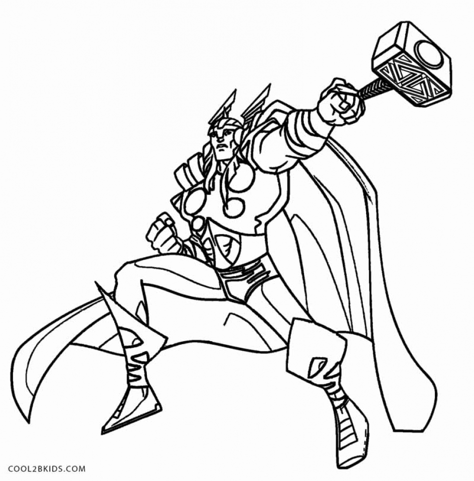 Online Thor Coloring Pages   78742