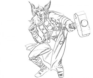 Online Thor Coloring Pages 88275