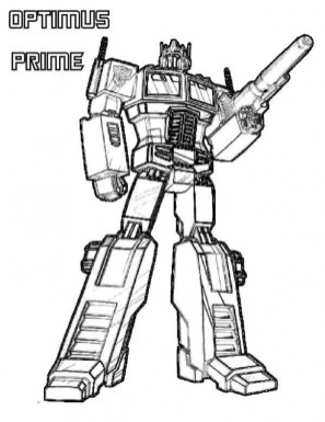Optimus Prime Coloring Page for Toddlers dl53x
