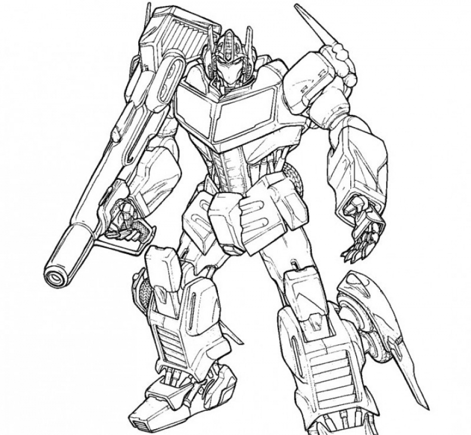Optimus Prime Coloring Page Printable for Kids   r1n7l