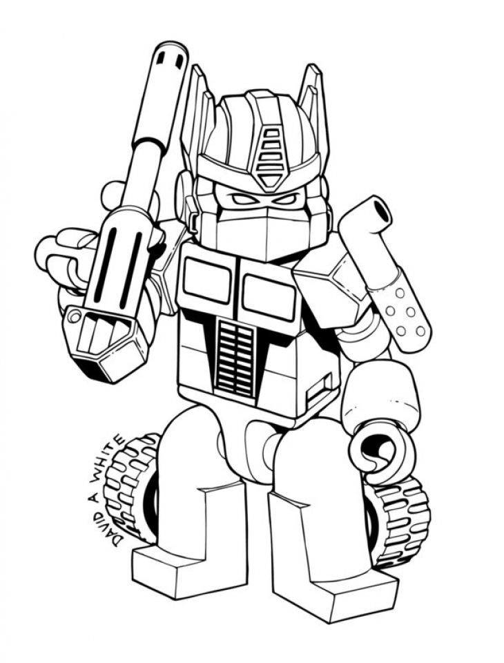 Optimus Prime Coloring Page to Print for Kids   aiwkr