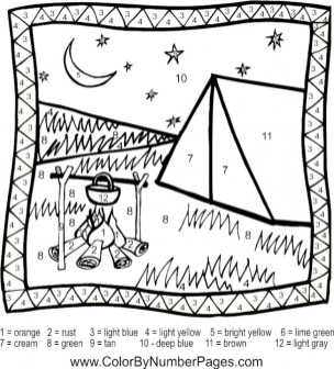 Printable Camping Coloring Pages Online 51321