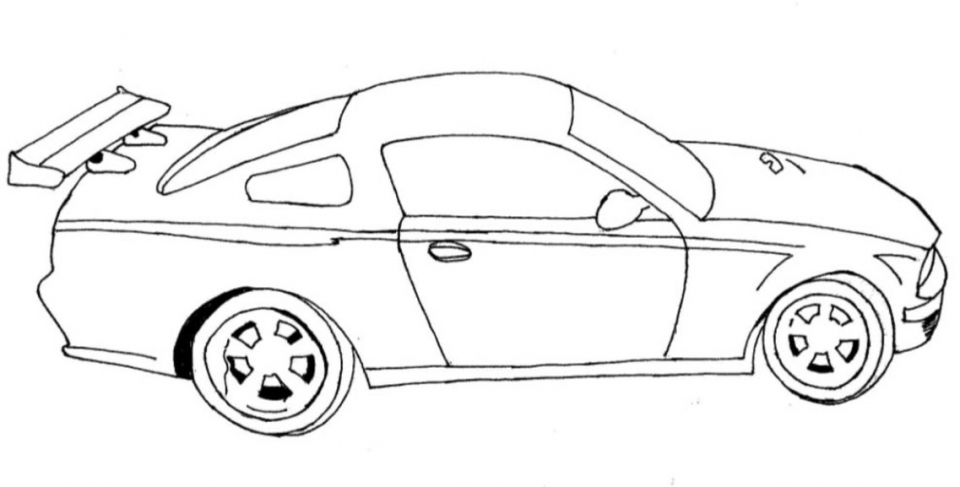 Printable Car Coloring Page   78757