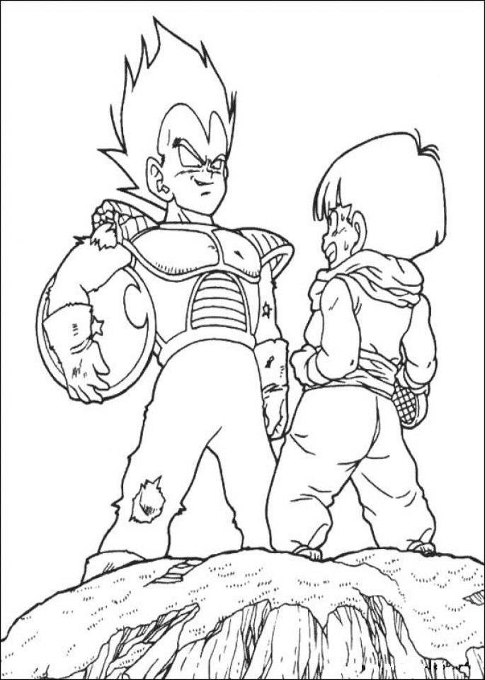 Printable DBZ Coloring Pages Online   64038