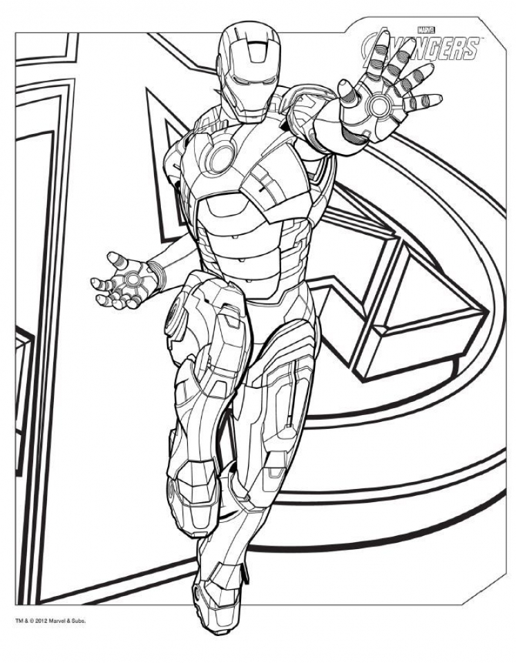 Printable Ironman Coloring Pages Online   85256