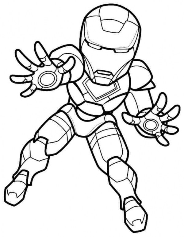 ironman coloring page # 50