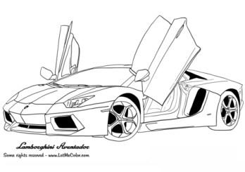 Printable Lamborghini Coloring Pages Online 51321