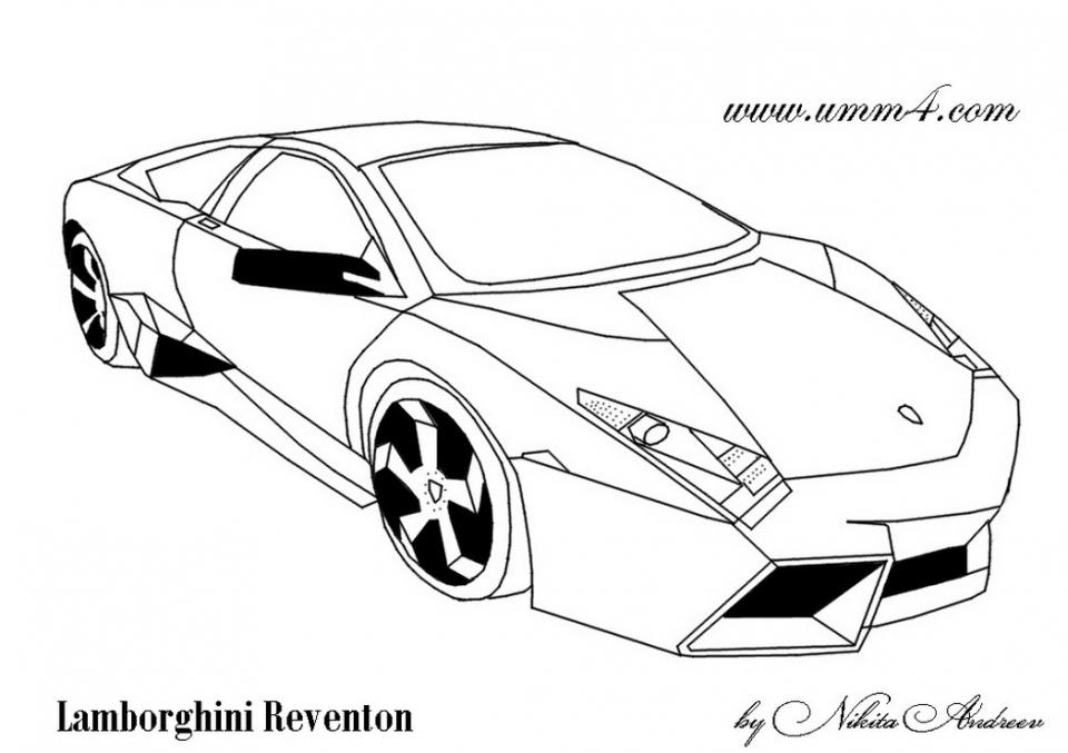 Printable Lamborghini Coloring Pages Online   91060