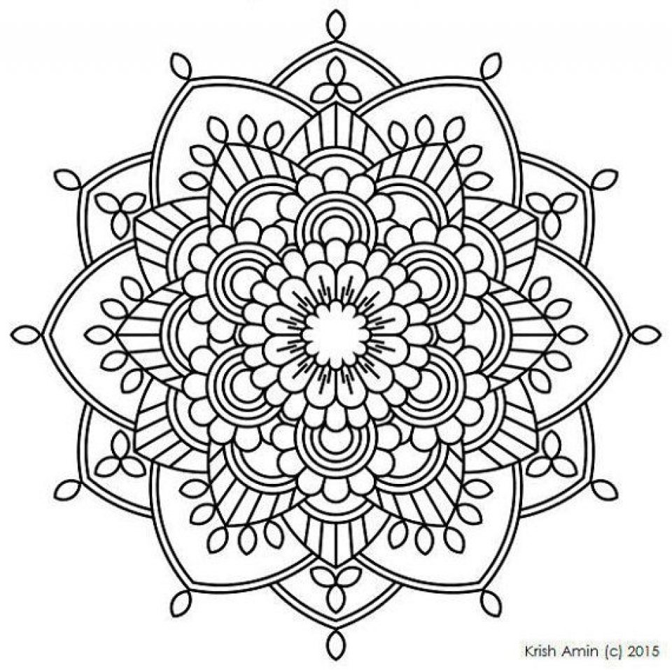 Get This Printable Mandala Coloring Pages For Adults Online 32651