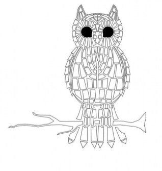 Printable Mosaic Coloring Pages Online 05278