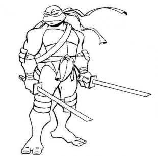 Printable Ninja Turtle Coloring Page 64912