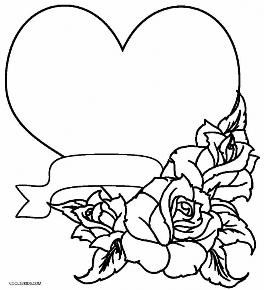 Printable Roses Coloring Pages for Adults Online   59307