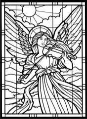 Printable Stained Glass Coloring Pages 87126