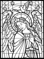 Printable Stained Glass Coloring Pages Online 21065