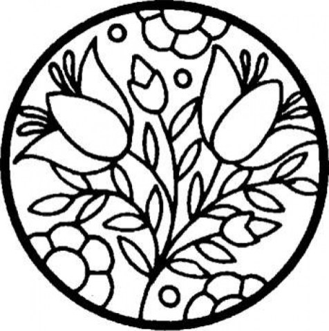 Printable Stained Glass Coloring Pages Online 91296