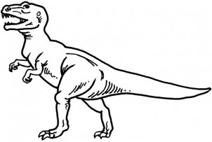 Printable T Rex Coloring Pages Online 64038