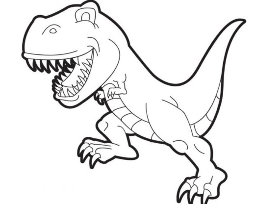 Printable T Rex Coloring Pages Online 91060