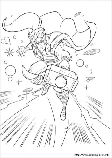 Printable Thor Coloring Pages 73400