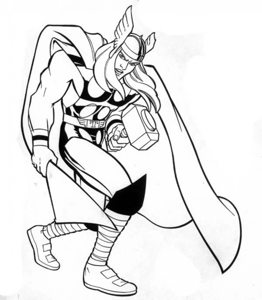 Get This Printable Thor Coloring Pages Online 51321