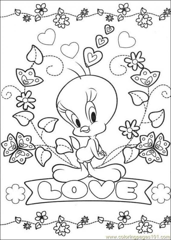 Printable Tweety Bird Coloring Pages Online   91060