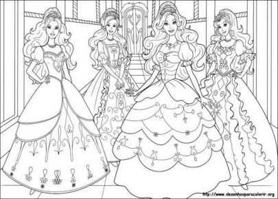 Free Printable Coloring Pages Barbie And The Three Musketeers ... | 289x405