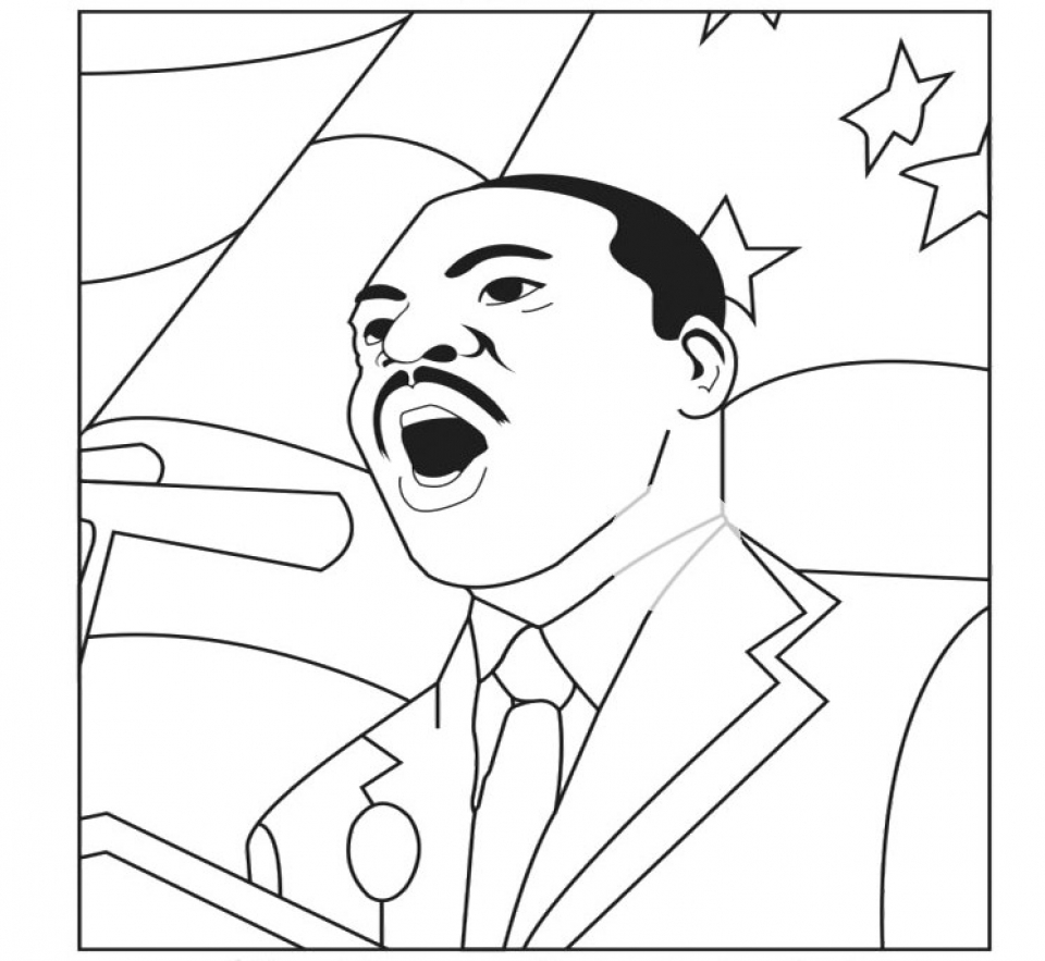 24+ Free Printable Martin Luther King Jr Coloring Pages