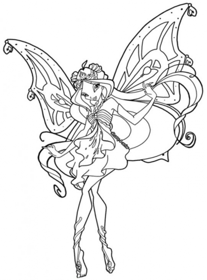 Winx Club Coloring Pages Printable | Målarbok, Rita, Barn | 960x711