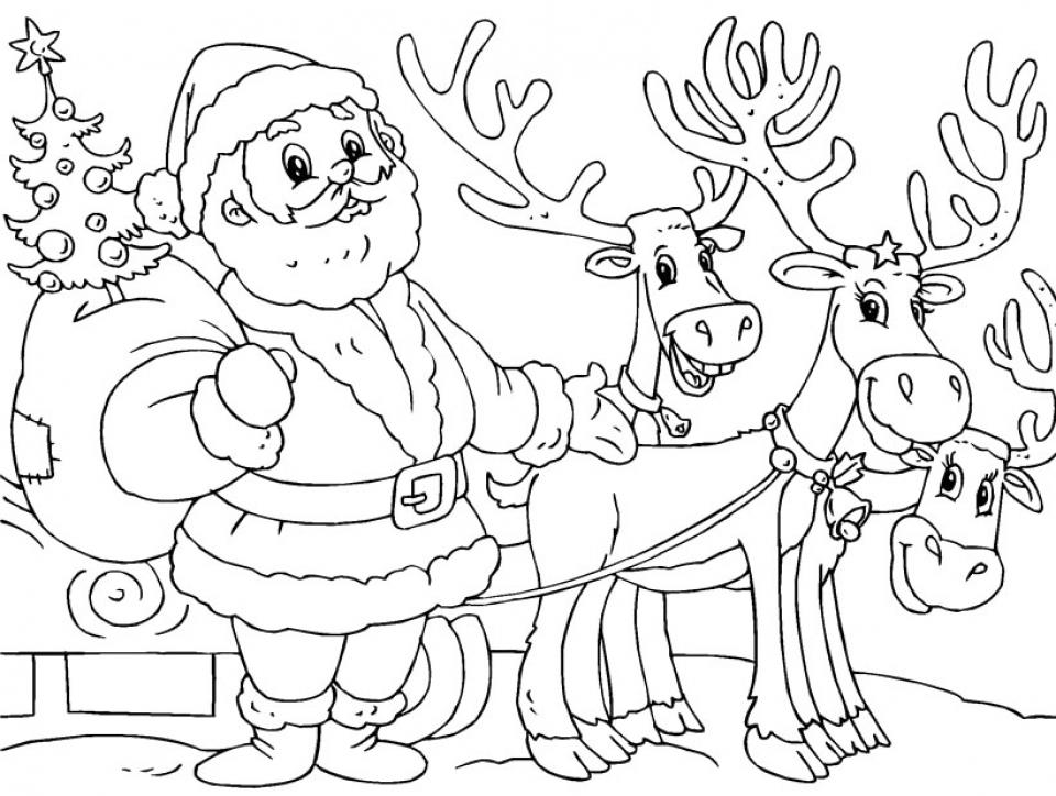 20+ Free Printable Santa Coloring Pages - EverFreeColoring.com