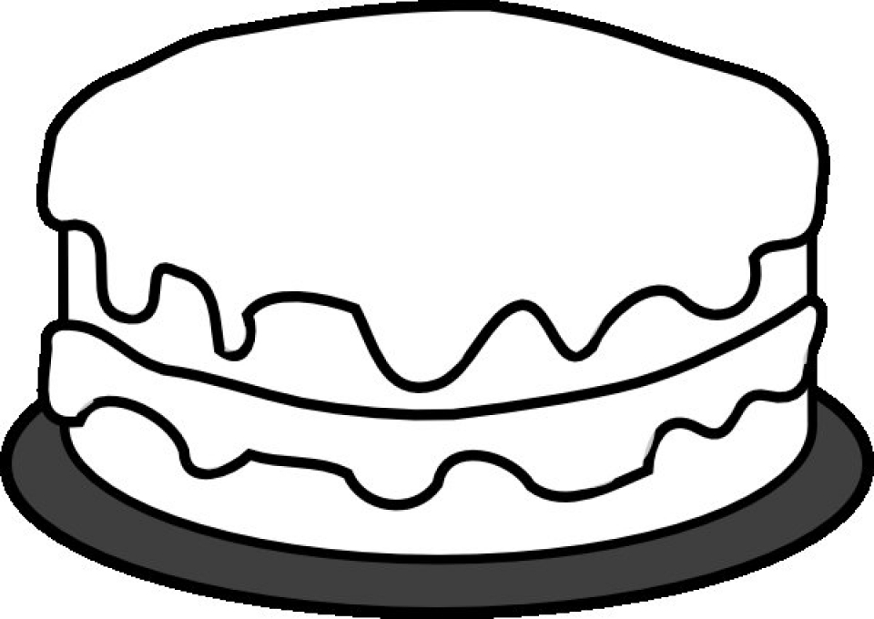 Get This Simple Cake Coloring Pages To Print For Preschoolers Cdsxi