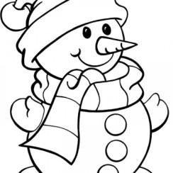 Snowman Coloring Pages Free Printable 66396