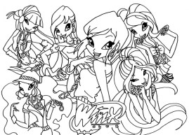 Winx Club Coloring Pages Online Printable nhywg