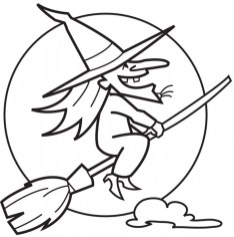 Witch Coloring Pages Printable for Kids xi226