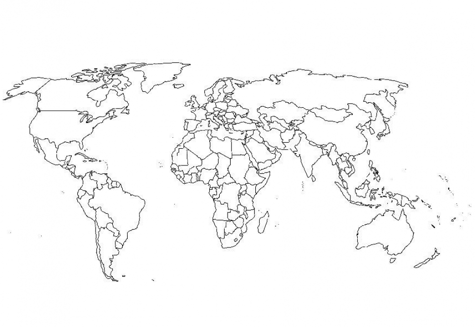World Map Coloring Pages to Print Online   lj8rr
