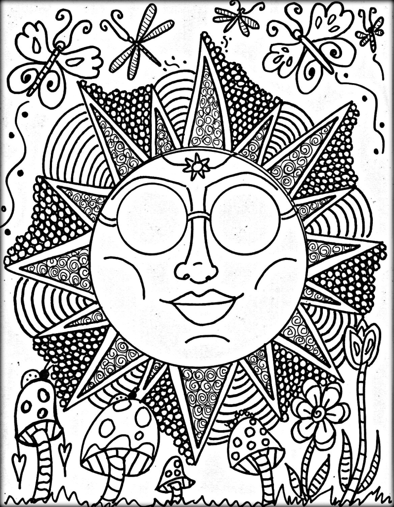 Get This Cool Trippy Coloring Pages For Grown Ups Pld72