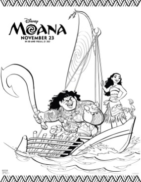 Free Moana Coloring Pages to Print - tt76z