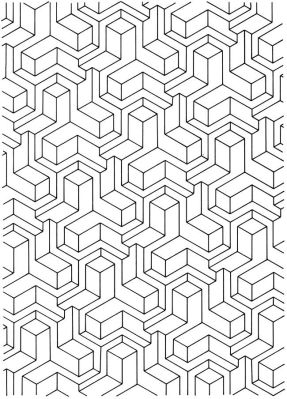 Free Tessellation Coloring Pages Adult Printable - 82648