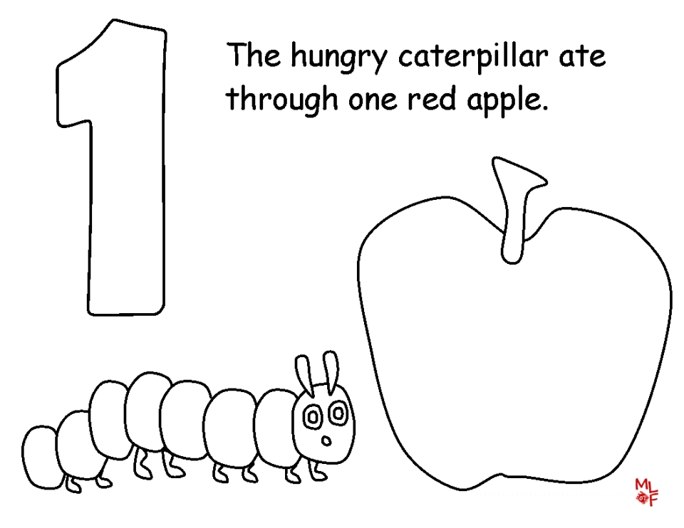 The Very Hungry Caterpillar Coloring Page Www.robertdee.org