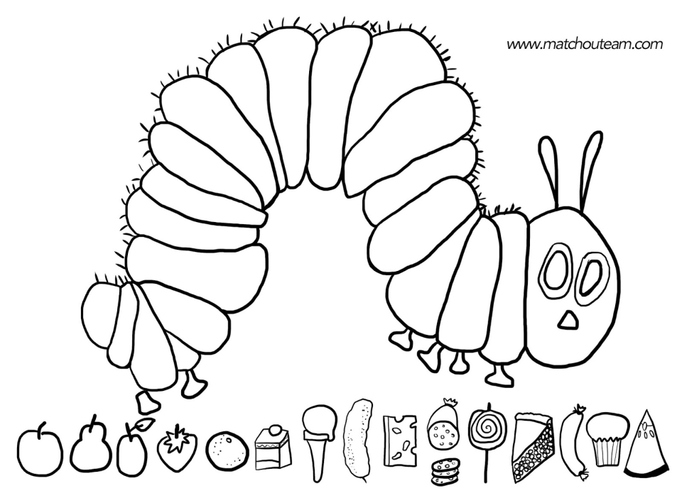 20+ Free Printable The Very Hungry Caterpillar Coloring Pages -  EverFreeColoring.com