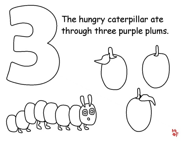 the very hungry caterpillar coloring pages # 12