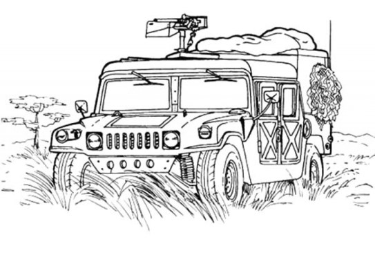 Army Truck Coloring Pages Free to Print 9862vbbn