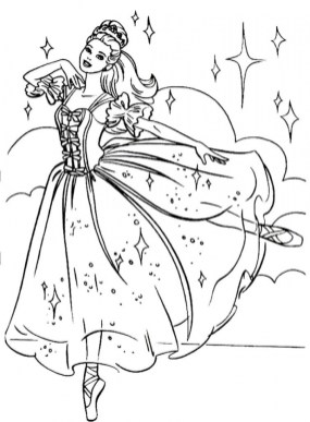 Beautiful Ballerina Coloring Pages 990834