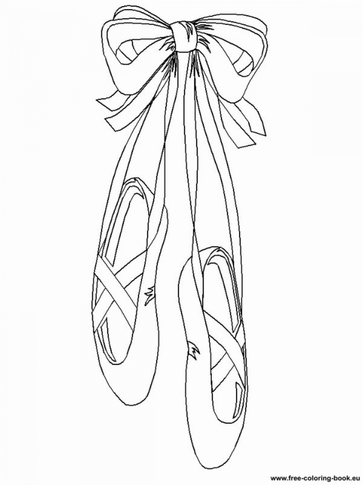 Get This Beautiful Ballerina Shoes Coloring Pages 77654