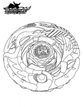 Beyblade Coloring Pages Free Printable 56449